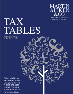 UK Business & Personal Tax Rates 2015-16